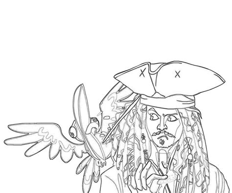free coloring pages of jack sparrow