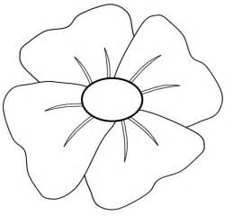 poppy template to colour poppy time remembrance day after school program