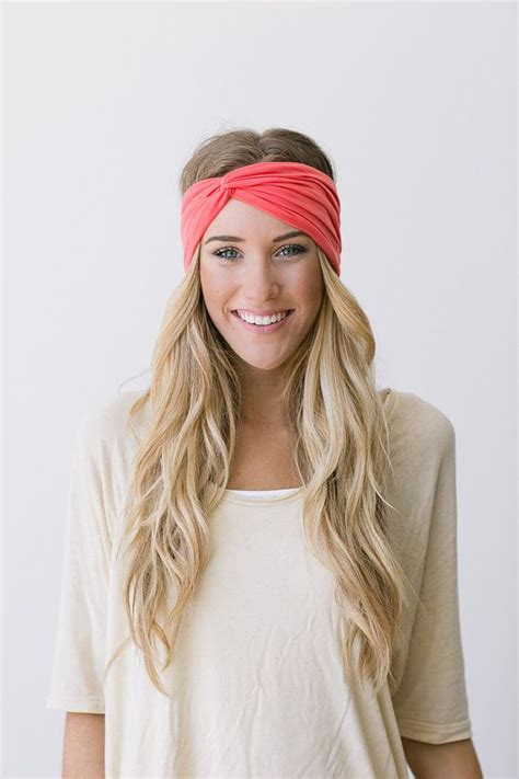 These Trends Twisted My by Turban Headband Coral Twist Hair Bands Wrap S