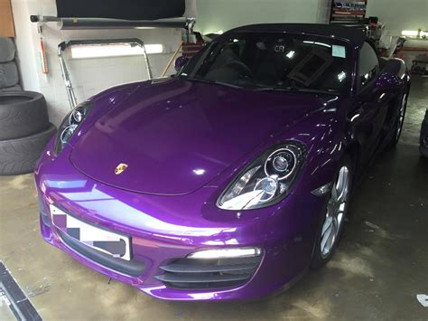 midnight purple midnight purple porsche boxster by impressive wrap