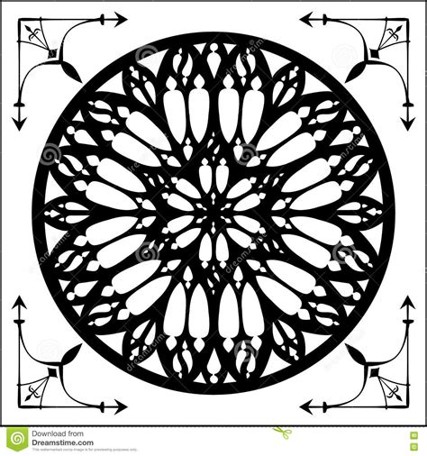 gothic rose gothic architecture element stock vector