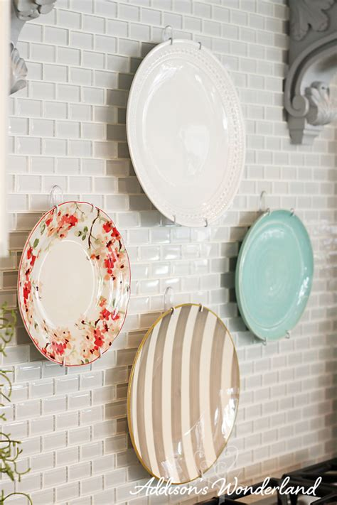 plates to hang on kitchen wall how to hang plates on kitchen backsplash 8 copy s