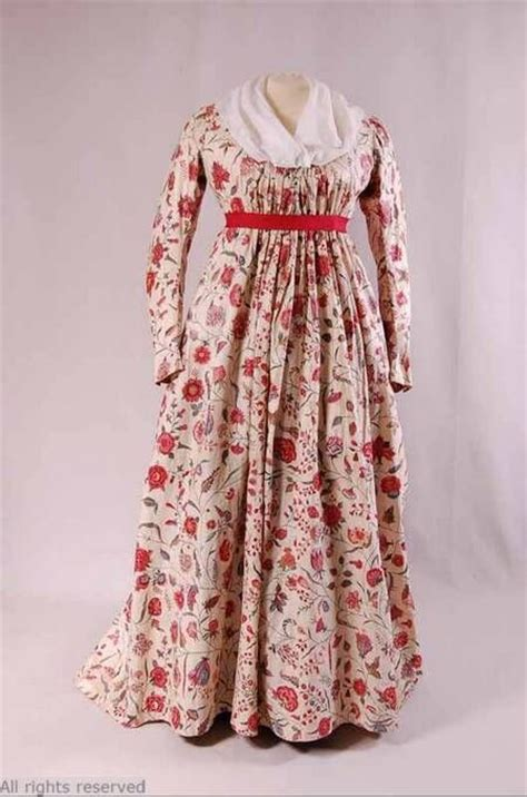 Dress T13 t13 584 j153 http openfashion momu be made 1790 1800 fabric 1760 1770 cotton chintz with