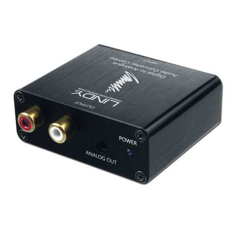 spdif digital to analogue stereo audio converter combo from lindy uk