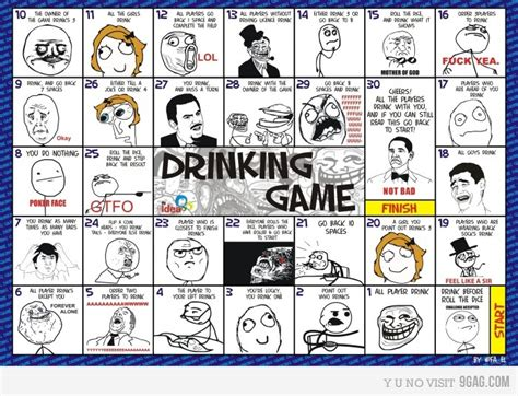 Drinking Game Meme - rage comics pokemon and meme drinking game boards with pics