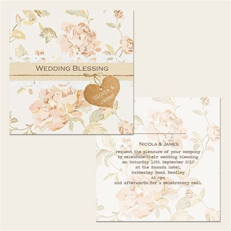 Wedding Blessing Invitations Uk by Shabby Chic Flowers Wedding Blessing Invitations