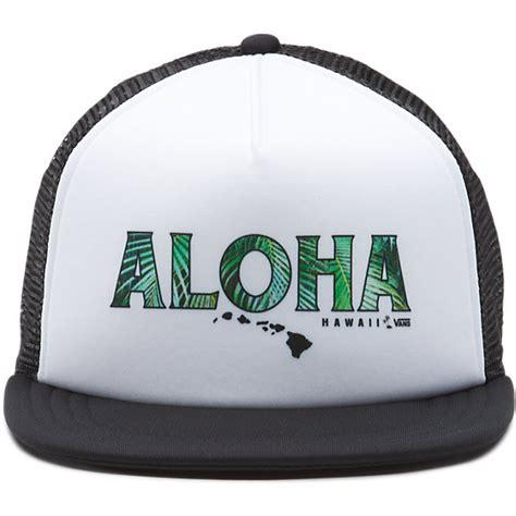 Trucker Hat Jaring Aloha Product vans aloha trucker hat shop at vans