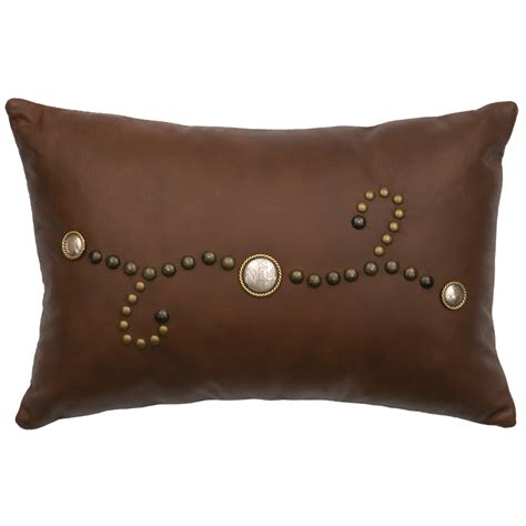 Leather With Pillows by Western Bedding Brown Leather Pillow Lone