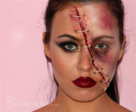 zombie girl makeup tutorial half glam half zombie halloween makeup tutorial