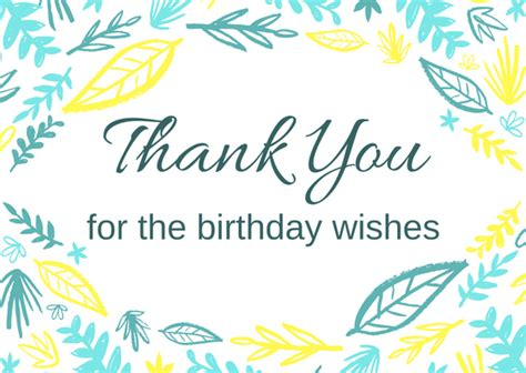 thank you for the birthday wishes images free birthday thank you card printables