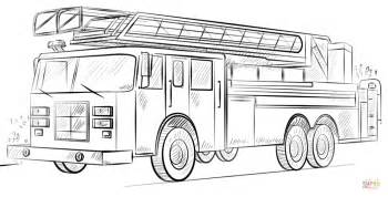 firetruck coloring page truck with ladder coloring page free printable