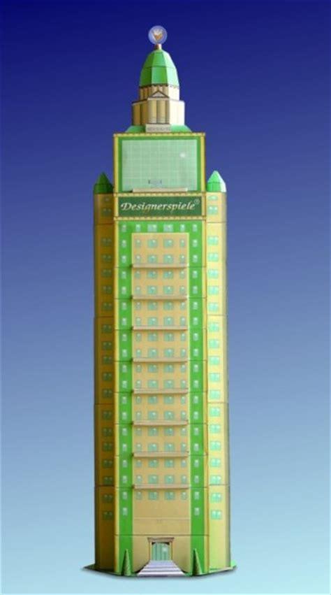 bastelartikel papierhaus hochhaus designerspiele