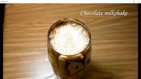 chocolate milkshake how to make chocolate milkshake at