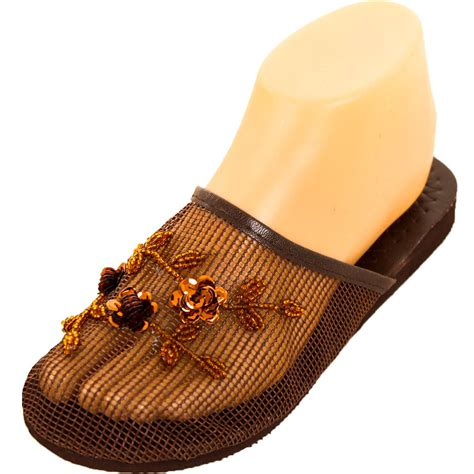 chinese house slippers womens chinese mesh slippers slides slip on sandal house shoe floral sequin bead ebay