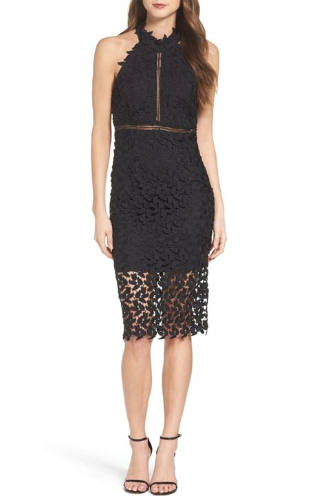 bardot gemma halter lace sheath dress nordstrom