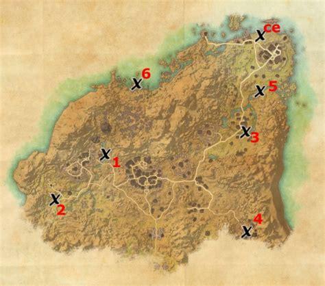 rivenspire treasure map locations elder scrolls