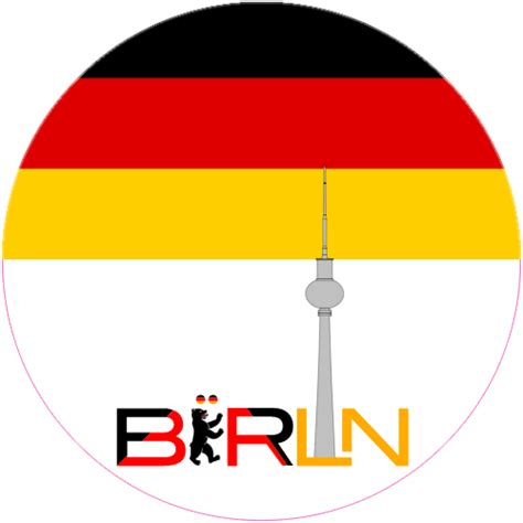 Berlin Sticker by Berlin Germany Circle Sticker U S Custom Stickers