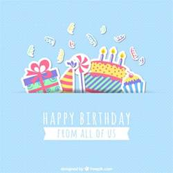 happy birthday card vector free