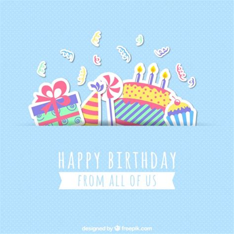 Birthday Card To A Happy Birthday Card Vector Free Download