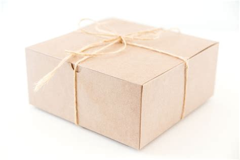 10 large square kraft gift boxes 8x8x3 5