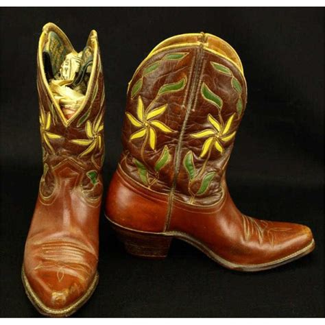 vintage cowboy boot l vintage pair cowboy boots marked ranger boot co