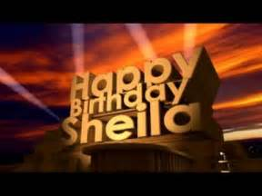 happy birthday sheila youtube