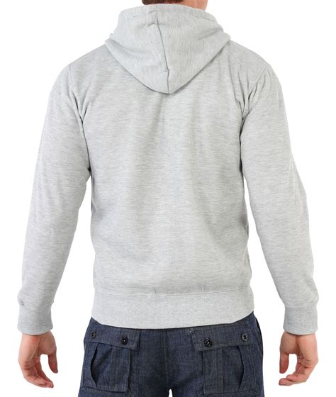 Zipper Plain Hoodie mens zip up plain tracksuit hoody hoodie hooded top jacket