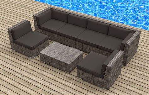 Modern Outdoor Sofas Furnishing Modern Outdoor Backyard Wicker Rattan Patio Furniture Sofa Sectional Set