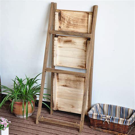 pesenan standing pot dekorasi lipat tanaman kayu berdiri dengan tiga rak rak