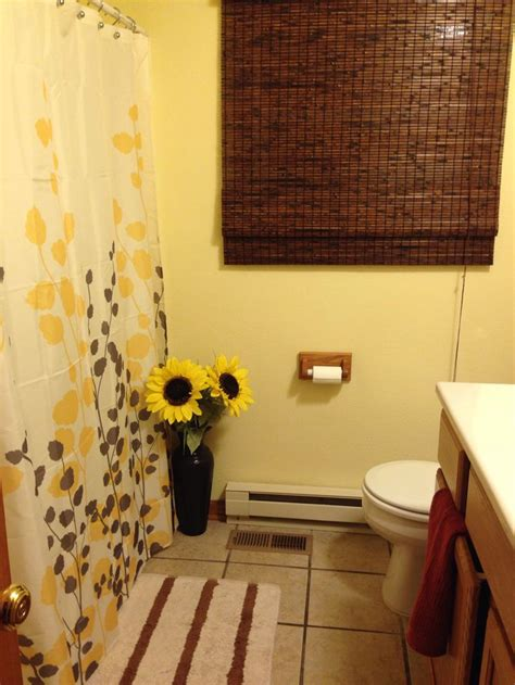 Yellow And Brown Bathroom Decor » Home Design 2017