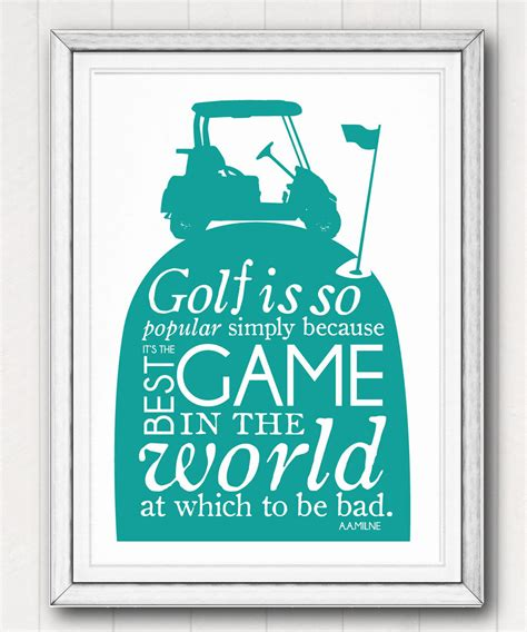 Printable Golf Quotes | printable golf quote poster art father s day gift