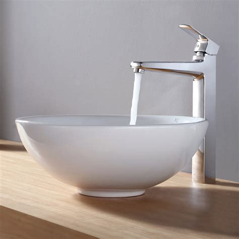 the vessel bathtub kraus ceramic round vessel bathroom sink reviews wayfair