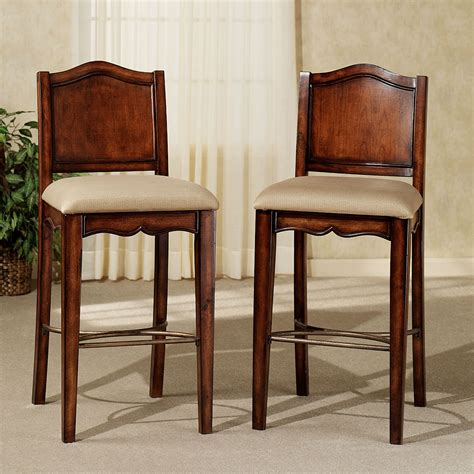 bar stools for home yorktown upholstered traditional bar stool set
