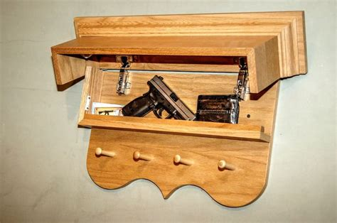 hidden compartment locks awesome hidden compartment wooden wall shelf with magnetic
