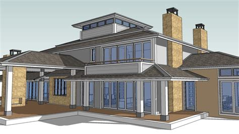 how to design a house in sketchup hip house tutorial how to make a hip roof using sketchup