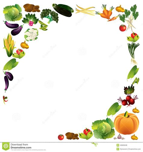 vegetables vector background with place for text healthy