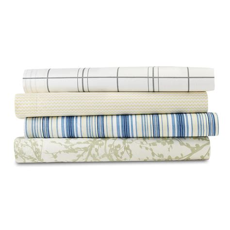 bed sheets material and thread count essential home 180 thread count 4 piece sheet set home
