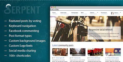 wordpress tutorial social network serpent responsive social network theme by cosmothemes