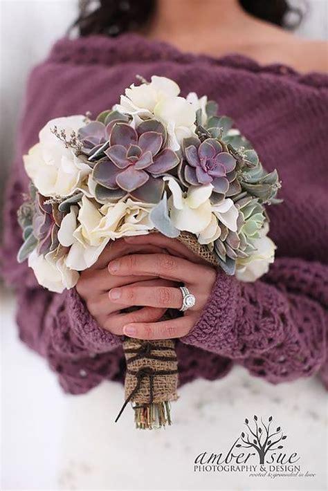 Wedding Bouquet Succulents by Seasonal Favorites 5 Winter Wedding Bouquets