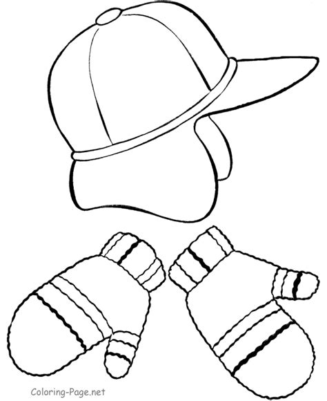 coloring pages of mittens and hats winter hat coloring page coloring home