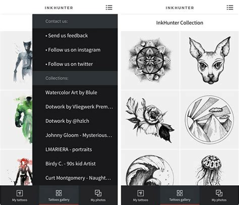 tattoo hunter app inkhunter lets you preview tattoo designs before you get inked