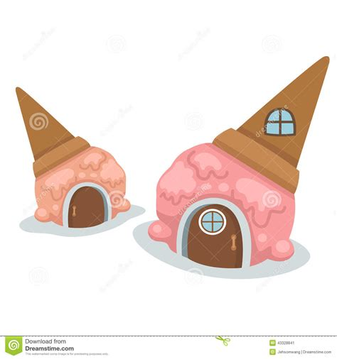 ice cream house ice cream house vector stock vector image 43328841