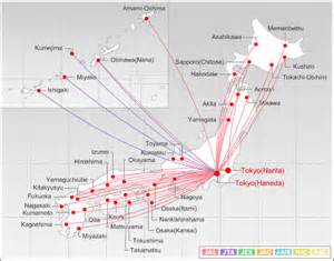 Jal Route Map by Image Gallery Japan Airlines Route Map
