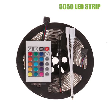 color changing led strip lights with remote 5m smd rgb led strip 5050 waterproof ip65 color changing
