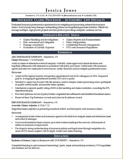 insurance resume sle claims adjuster cover letter 28 28 claims processor resume