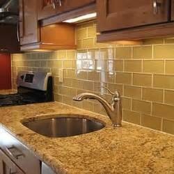 Glass Kitchen Tiles For Backsplash Glass Subway Tile Backsplash
