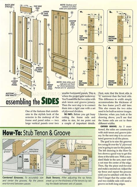 armoire furniture plans cherry armoire plans woodarchivist