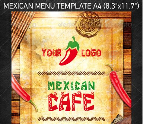 mexican restaurant menu template mexican restaurant menu design www imgkid the