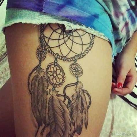 dreamcatcher thigh tattoos 78 graceful dreamcatcher tattoos on thigh