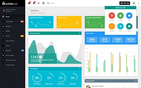 free bootstrap themes bower superflat responsive bootstrap 3 admin dashboar